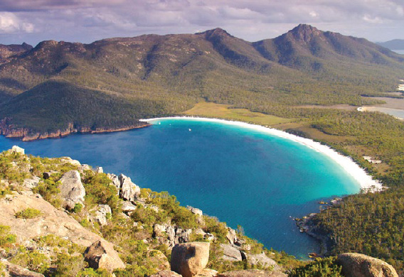 Above view of Wineglass Bay