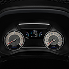 MU-X electroluminescent display on dashboard